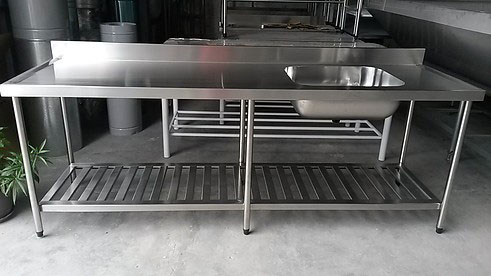 Mesa De Aço Inox Para Cozinha Industrial Afc Inox