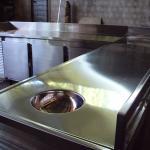 Balcão refrigerado em aço inox