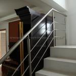Corrimão de escada em aço inox