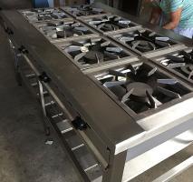 Fogão industrial em aço inoxidável